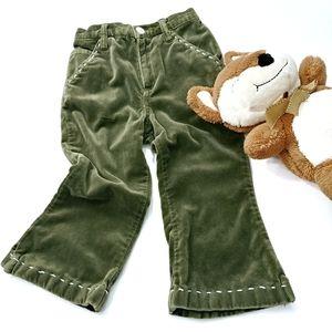 Gap Velvet Olive Green Pants Size 2T